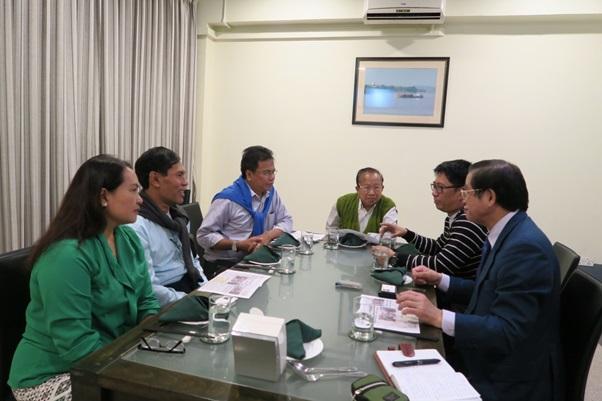 Tin Maung Win氏交通・通信・建設委員会委員長、建設委員会幹事長 Nay Tun Ba Swe氏(元ミャンマー首相Ba Swe氏の息子)と